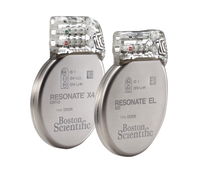Image of RESONATE X4 CRT-D and RESONATE EL ICD from Boston Scientific