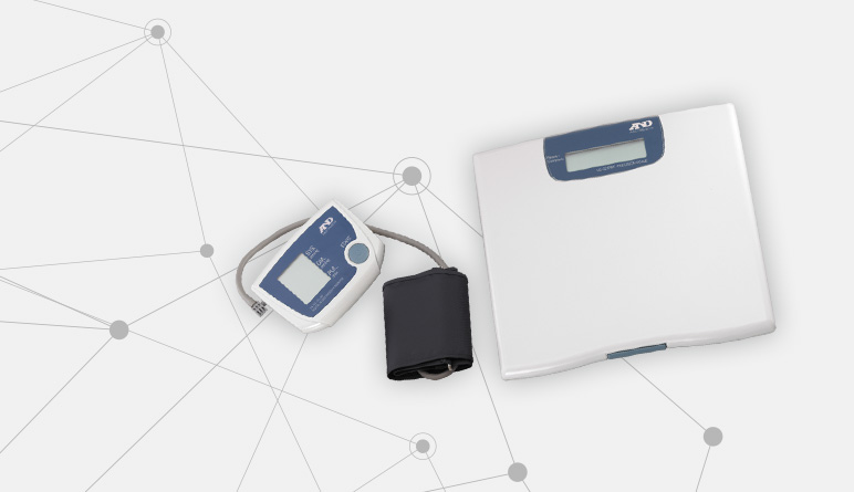 Optional weight scale and blood pressure monitor for the LATITUDE NXT Remote Patient Management System