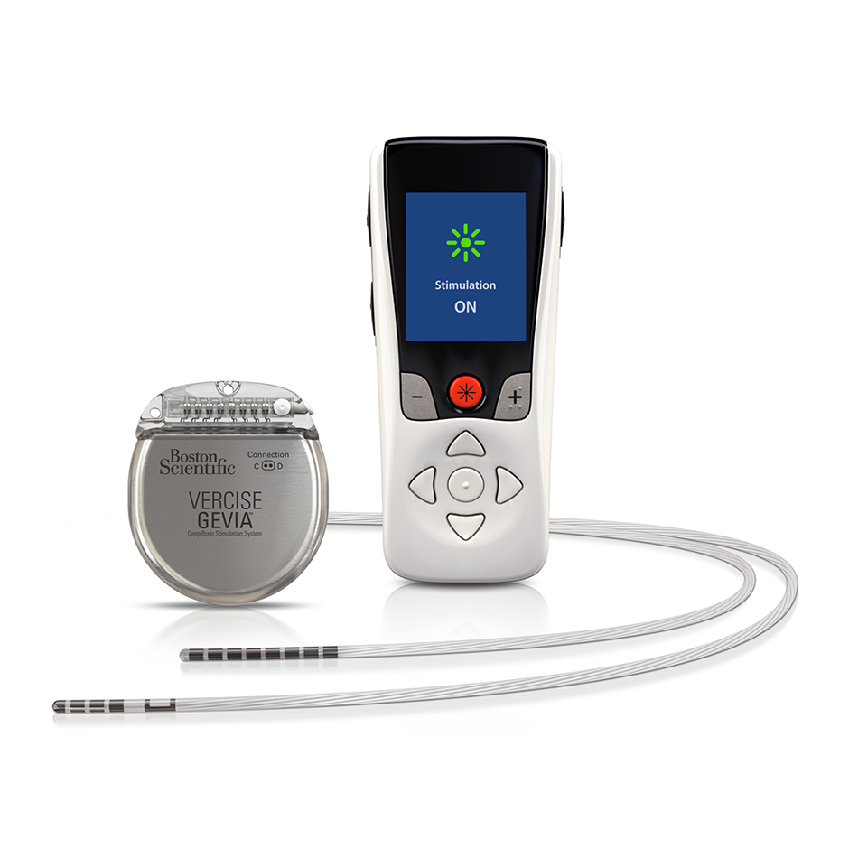 Vercise Gevia™ IPG and Patient Remote Control with Leads