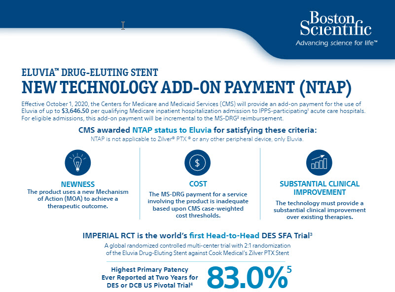 Eluvia Drug-Eluting Vascular Stent Coding and Reimbursement.