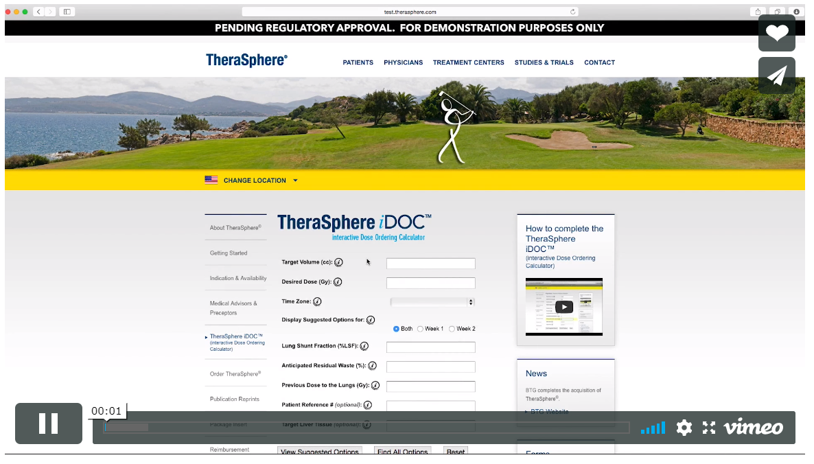 See the TheraSphere iDOC in action