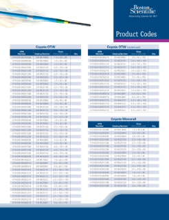 Coyote Product Code Brochure