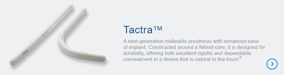 Tactra Malleable Penile Prosthesis product image and summary