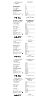 AMS 700™ with MS Pump Inflatable Penile Prosthesis Pateint Identification Card