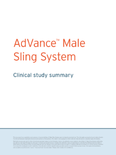 AdVance™ Male Sling Clinical Summary