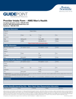 AMS Men's Health Provider Intake Form