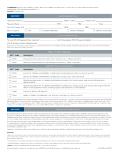 AMS Men's Health MC Benefit Verification Form
