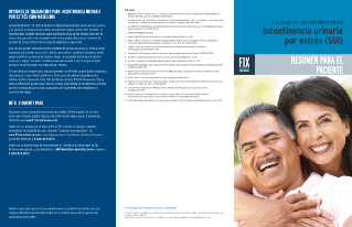 Male Continence Treatment Options Brochure - Spanish