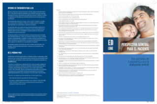 ED Treatment Options Brochure - Spanish