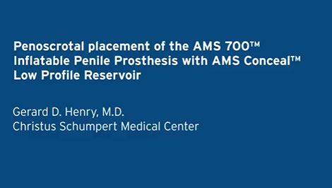 Penoscrotal Placement video, Dr. Henry