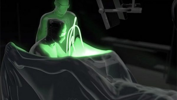Greenlight laser therapy animation with play button