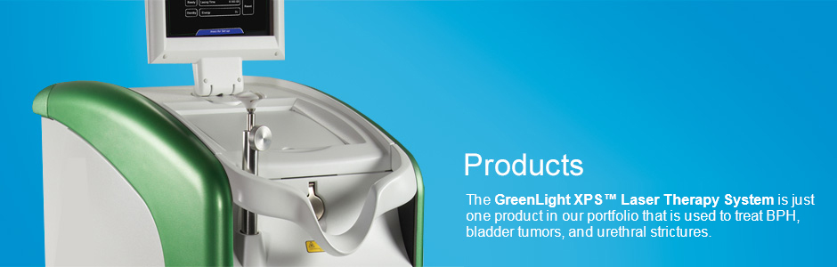 BPH Products | The GreenLight XPS Laser Therapy System is just one product in our portfolio that is used to treat BPH, bladder tumors, and urethral strictures.