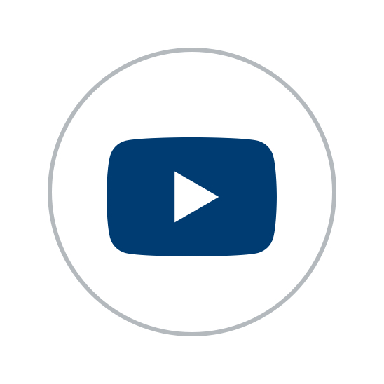 blue youtube play button logo