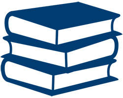 stacked books icon.