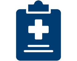 medical clipboard icon.