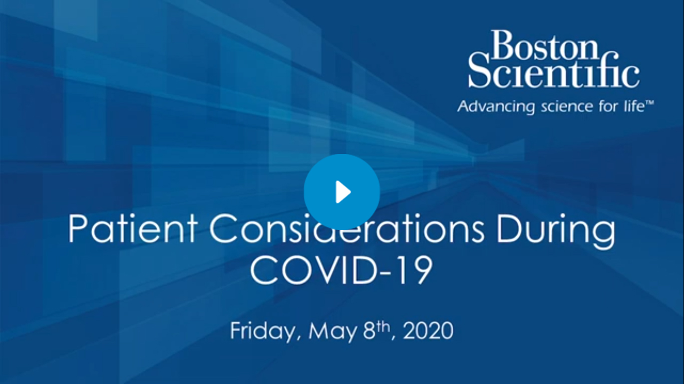 Patient Considerations During COVID-19 Webinar Embedded Video