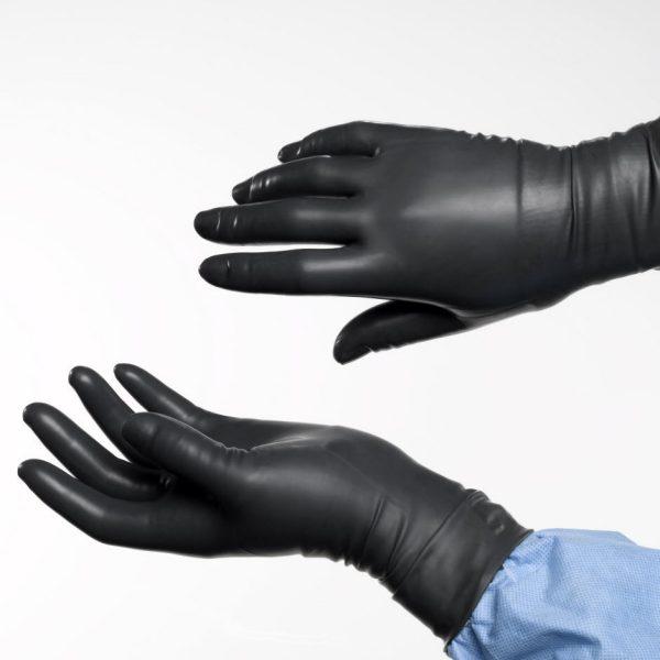 Black vinyl gloves long - Radiation Reduction Examination Gloves
