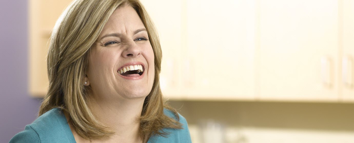 Image of patient laughing and smiling