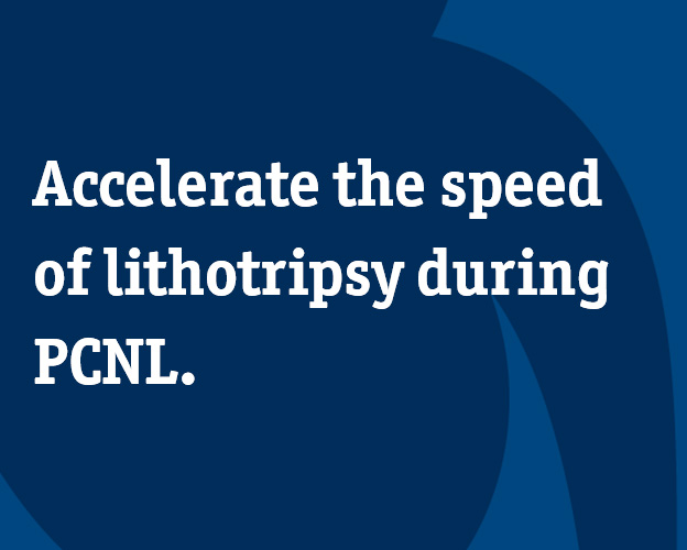 Accelerate the speed of lithotripsy during PCNL