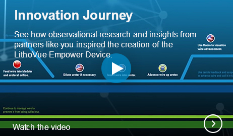 Innovation Journey See how observational research and insights from partners like you inspired the creation of the LithoVue Empower Device.