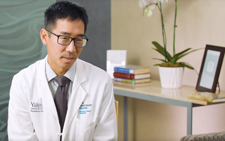 Physician giving testimonial about SpaceOAR Hydrogel