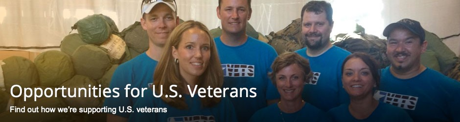 Opportunities for U.S. Veterans - Find out how we're supporting U.S. veterans