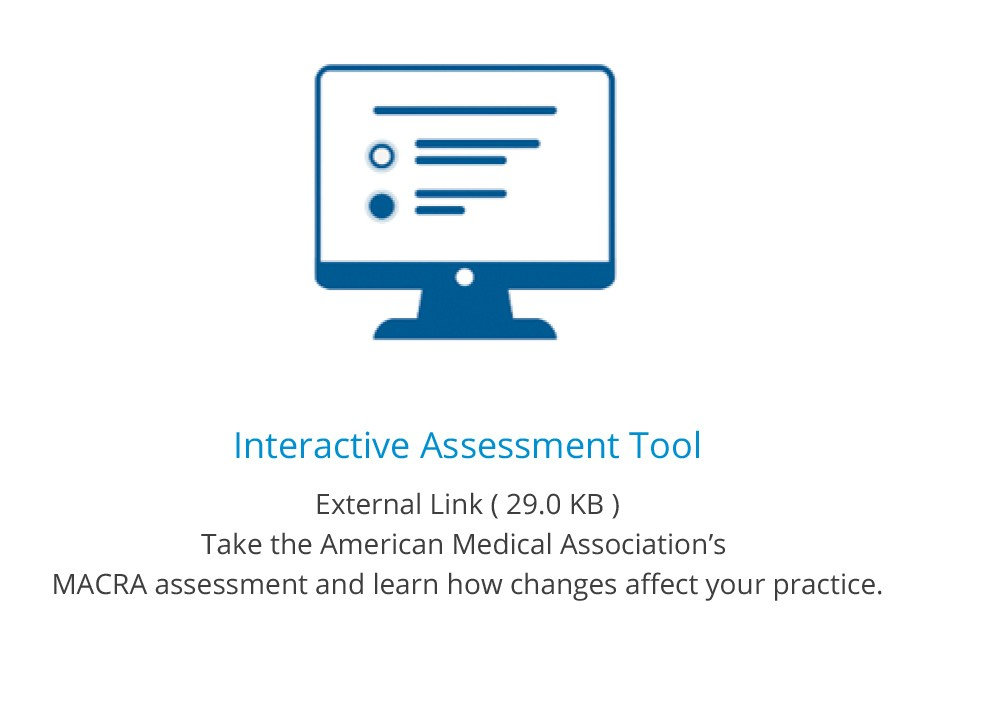 icon with link to AMA MACRA assessment too