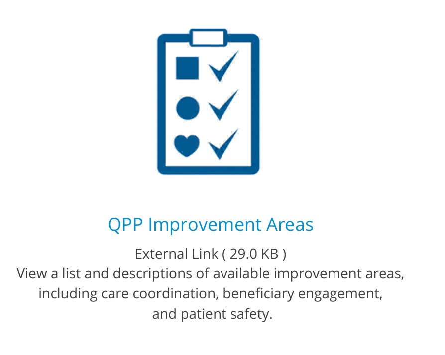 Icon for QPP Improvement with link to list of improvement activities