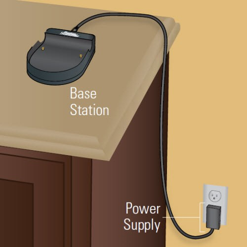 illustration of the charger plugged into an outlet