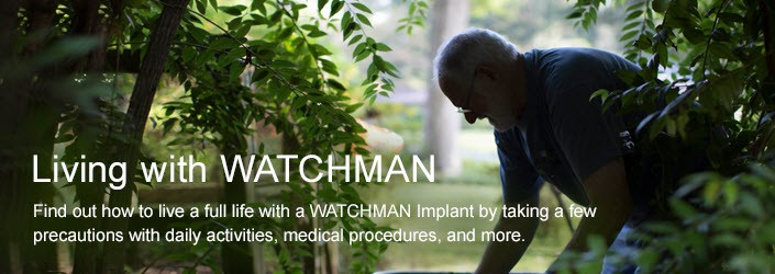 Image of man gardening - Find our how to live a full life with a WATCHMAN Implant by taking a few precautions with daily activities, medical procedures, and more.