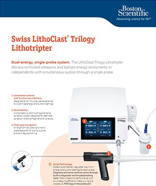 Swiss LithoClast® Trilogy Lithotripter - Product Specification Sheet PDF