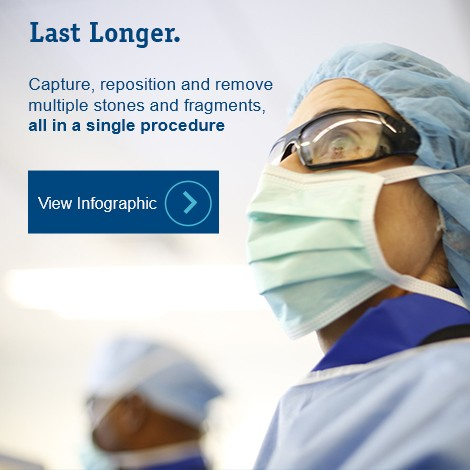 Last Longer. Capture, reposition, and remove multiple stones and fragments, all in a single procedure.