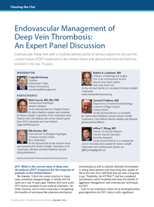 An Expert Panel Discussion on DVT