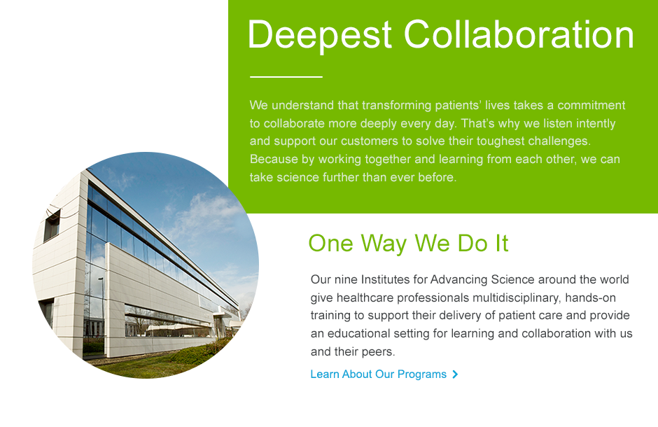 Deepest collaboration showing the Institute for Advancing Science Building