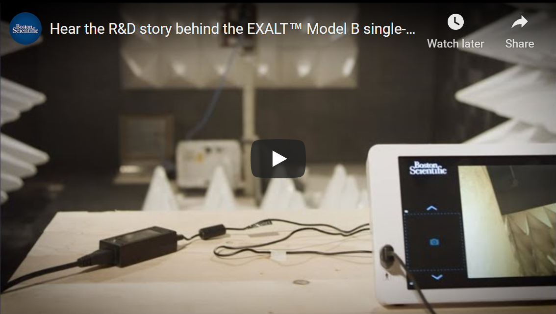 Hear the R&D story behind the EXALT™ Model B single-use bronchoscope from Boston Scientific.