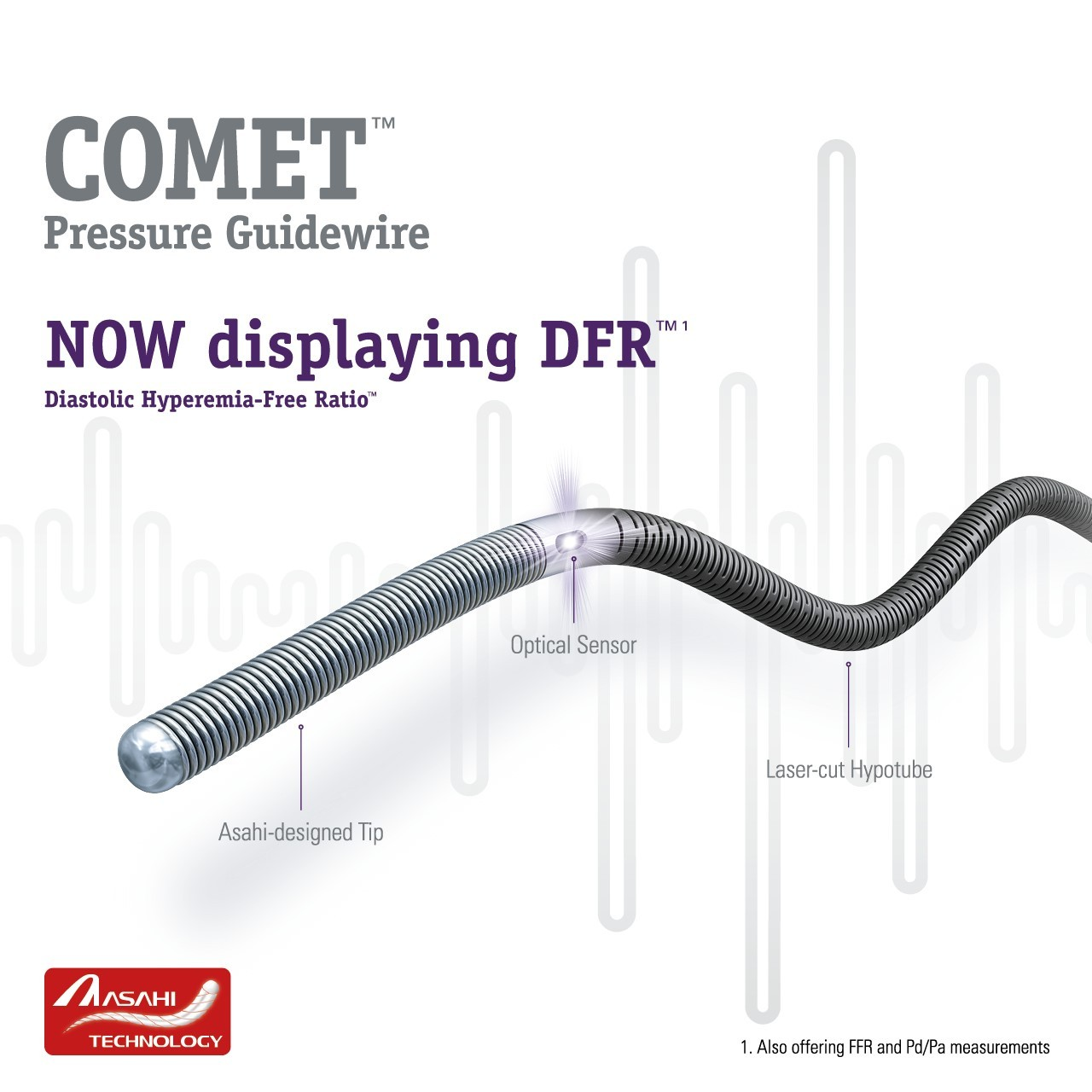 COMET™ Pressure Guidewire - Now displaying DFR™