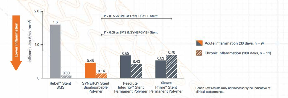 inflammation versus permanent polymer stents in a preclinical model