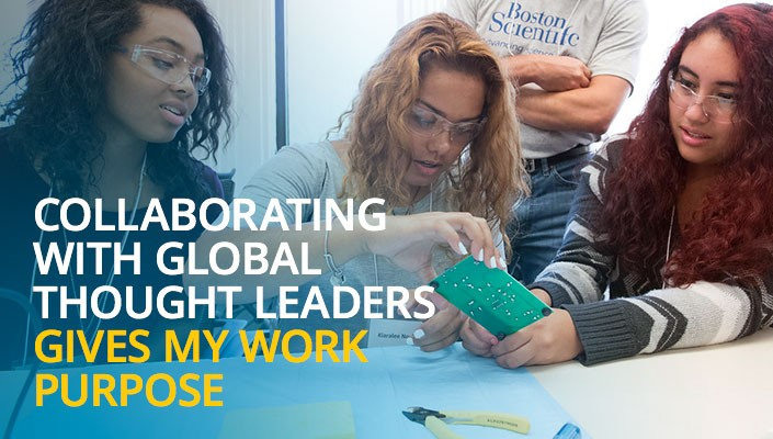 Collaborating with global thought leaders gives my work purpose.