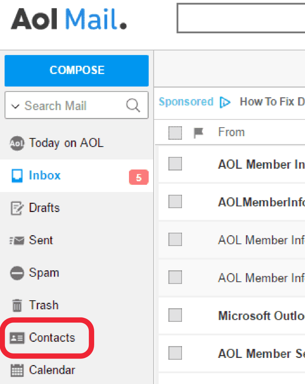 AOL Contacts