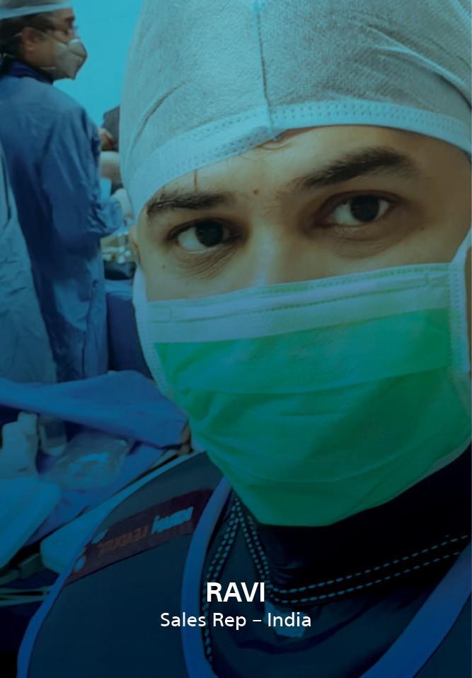BCS employee watching a surgery
