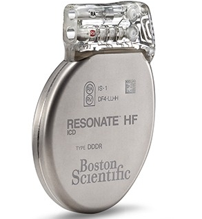 Front-facing RESONATE HF ICD defibrillator device