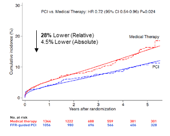 FFR Guided 1-Year Outcomes