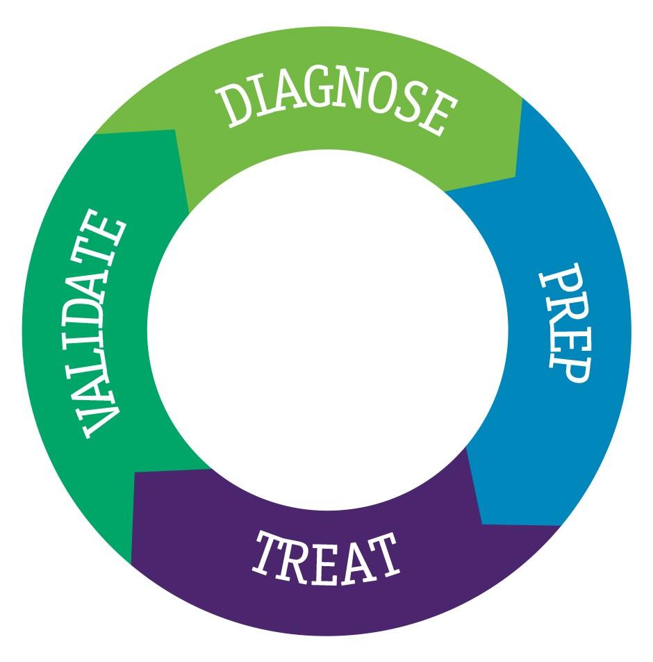 Prep, Treat, Validate, Diagnose