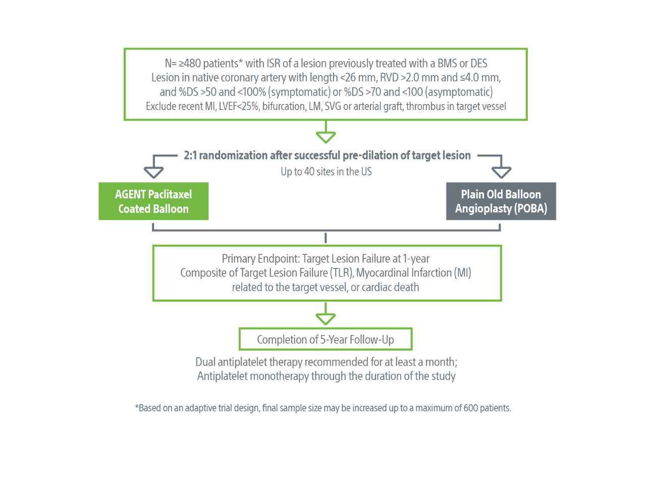 Trial design and primary endpoint