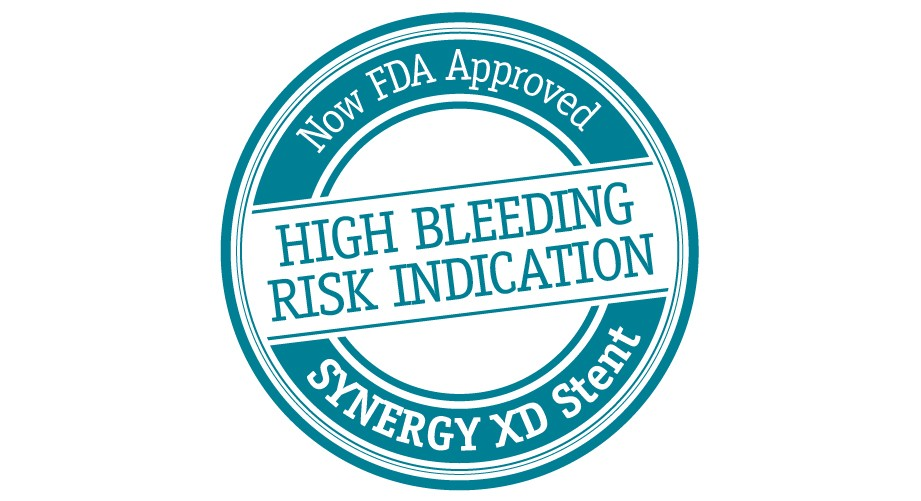 Now FDA Approved - SYNERGY XD Stent, High Bleeding Risk Indication