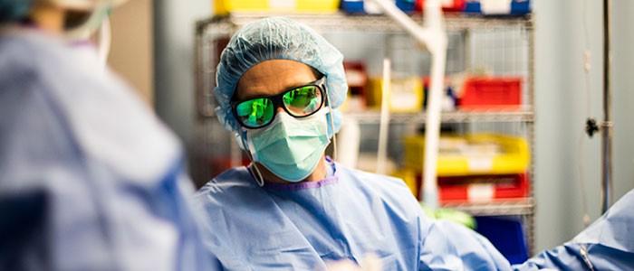 Surgeon in procedure