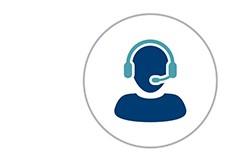 Iconography of customer service representative