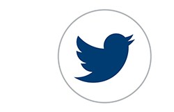 twitter logo in a circle