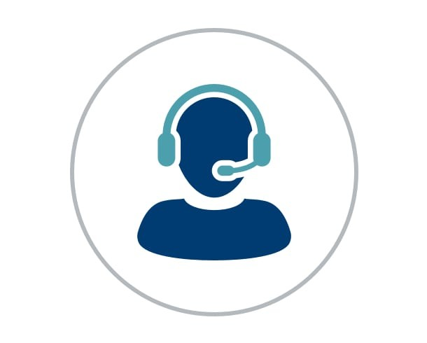 Iconography of a technical support representative
