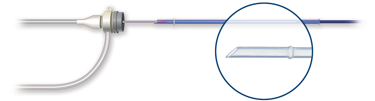 Illustration of balloon and drug protected during loading device